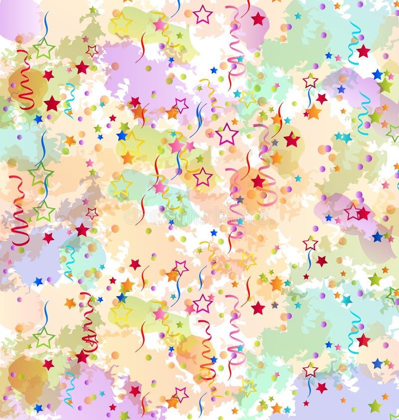 Fundo do feriado dos confetes, contexto colorido do grunge ilustração royalty free
