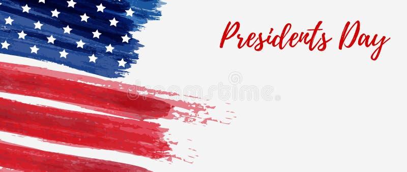 Fundo do feriado dos presidentes Dia dos EUA ilustração royalty free