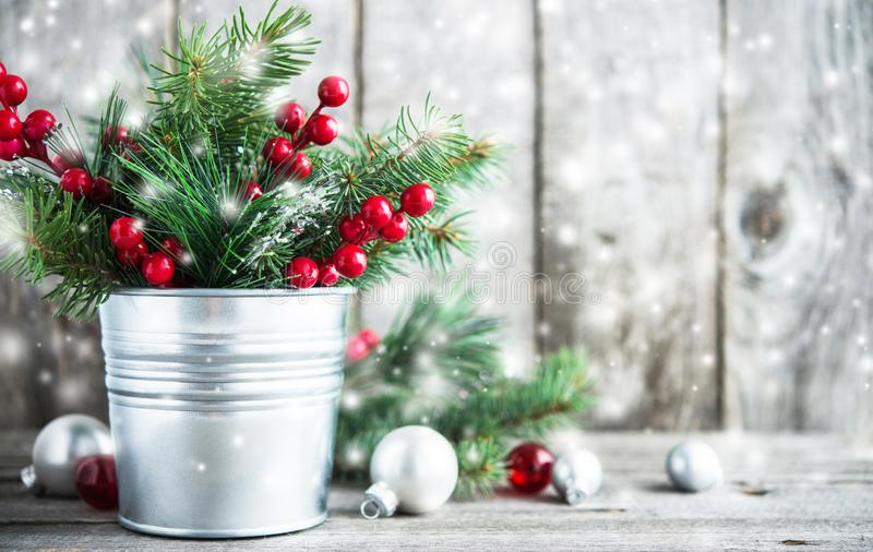Fundo do feriado do Natal e do ano novo Cartão do Xmas Feriados de inverno imagem de stock royalty free