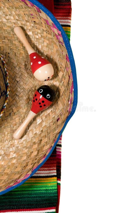 Fundo do festival de Cinco de Mayo no branco imagens de stock royalty free