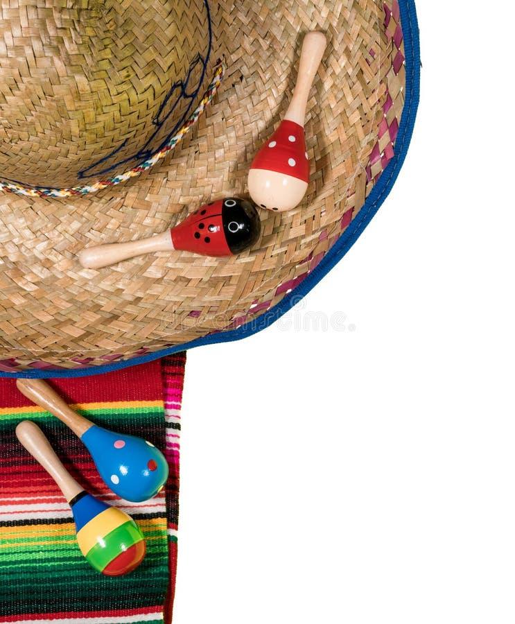 Fundo do festival de Cinco de Mayo no branco imagem de stock royalty free