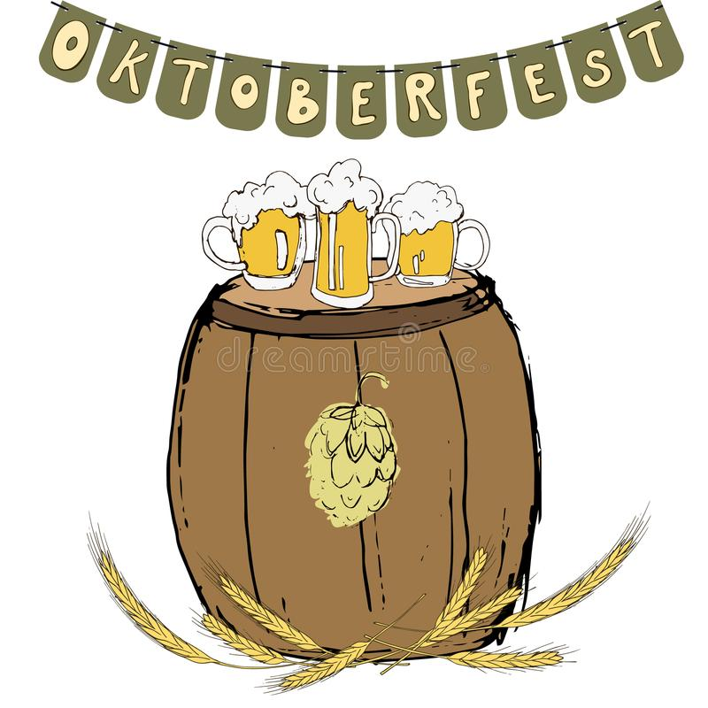 Fundo do festival de Oktoberfest ilustração do vetor