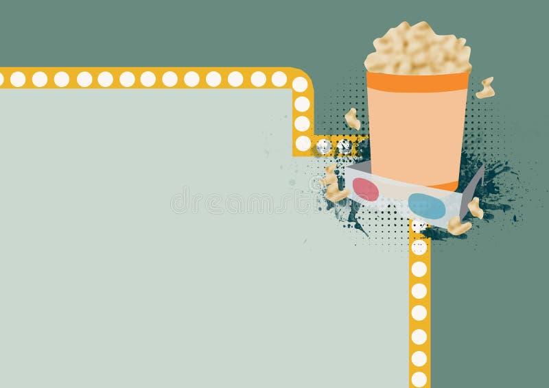 fundo do filme 3D ilustração stock