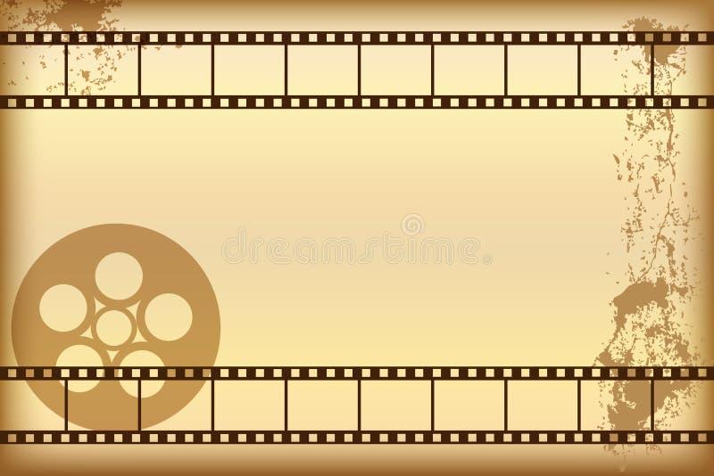 Fundo do filme de Grunge ilustração stock