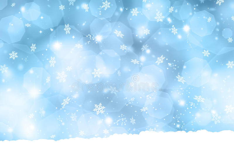 Fundo do floco de neve ilustração do vetor