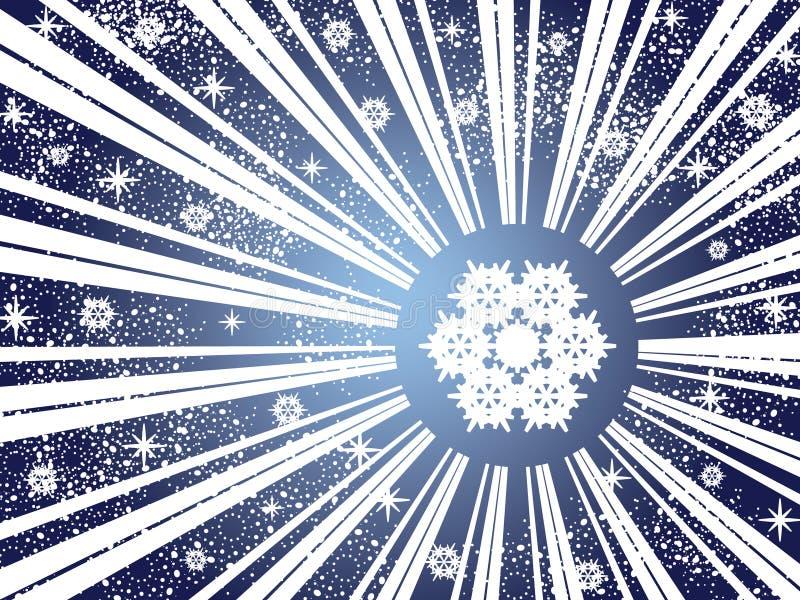 Fundo do floco de neve do inverno ilustração royalty free