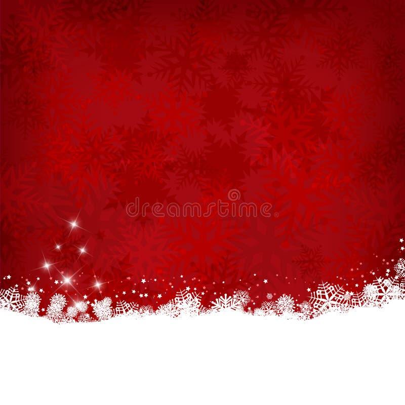 Fundo do floco de neve do Natal ilustração do vetor