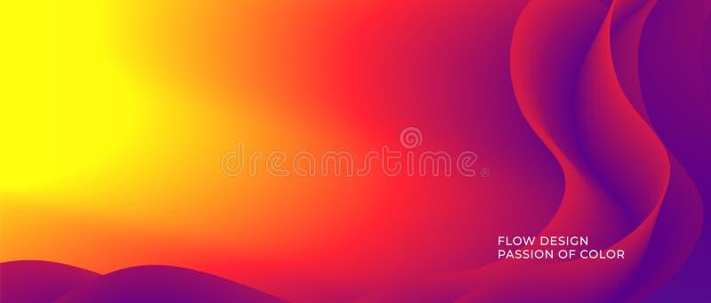 Fundo do fluxo da onda da cor vermelha ilustração royalty free
