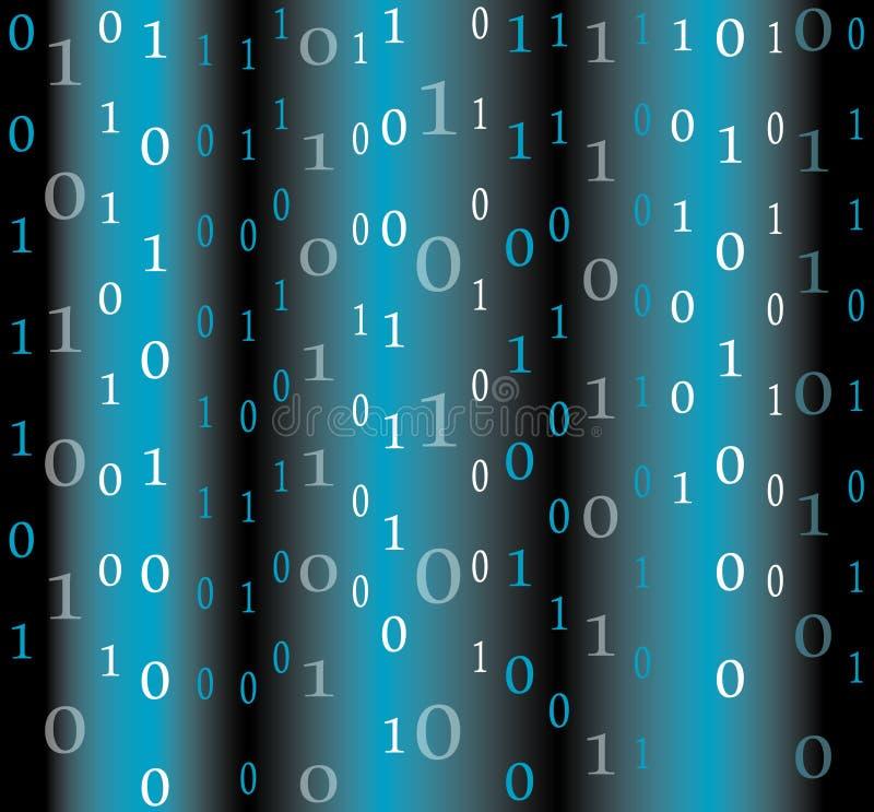 Fundo do fluxo do código binário ilustração stock