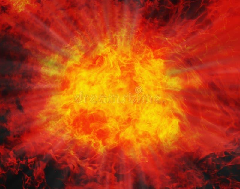 Fundo do fogo Explosão Força, perigo, poder, energia imagens de stock