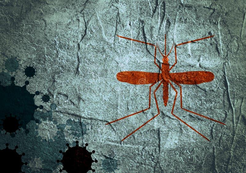 Fundo do folheto, do relatório ou do projeto do inseto Doenças de vírus relativas imagem de stock