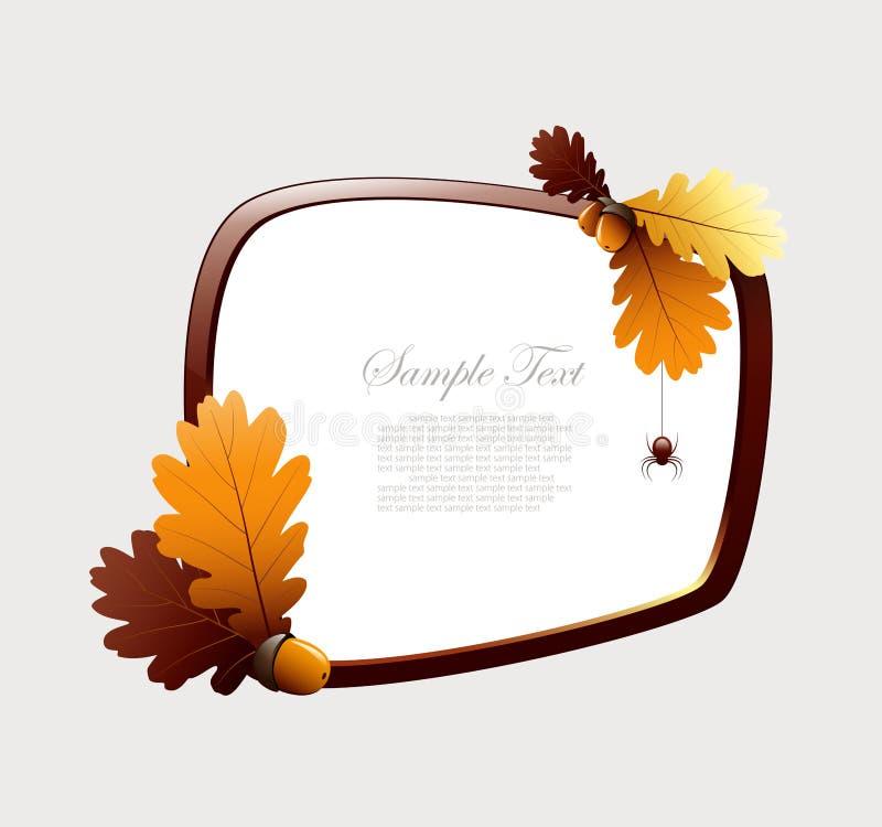 Fundo do frame do outono ilustração stock