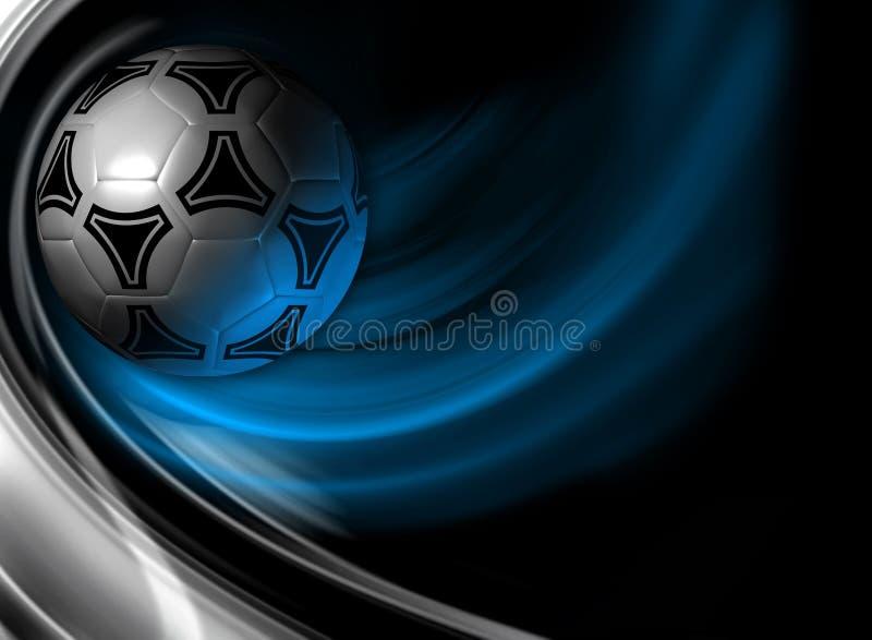 Fundo do futebol. 3D rendem. ilustração stock