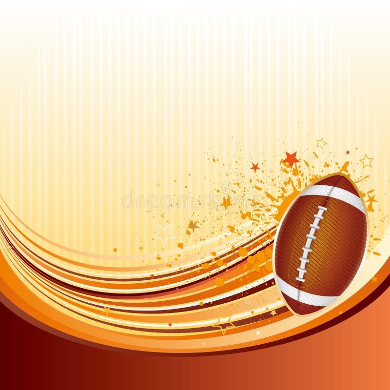 fundo do futebol americano ilustração do vetor
