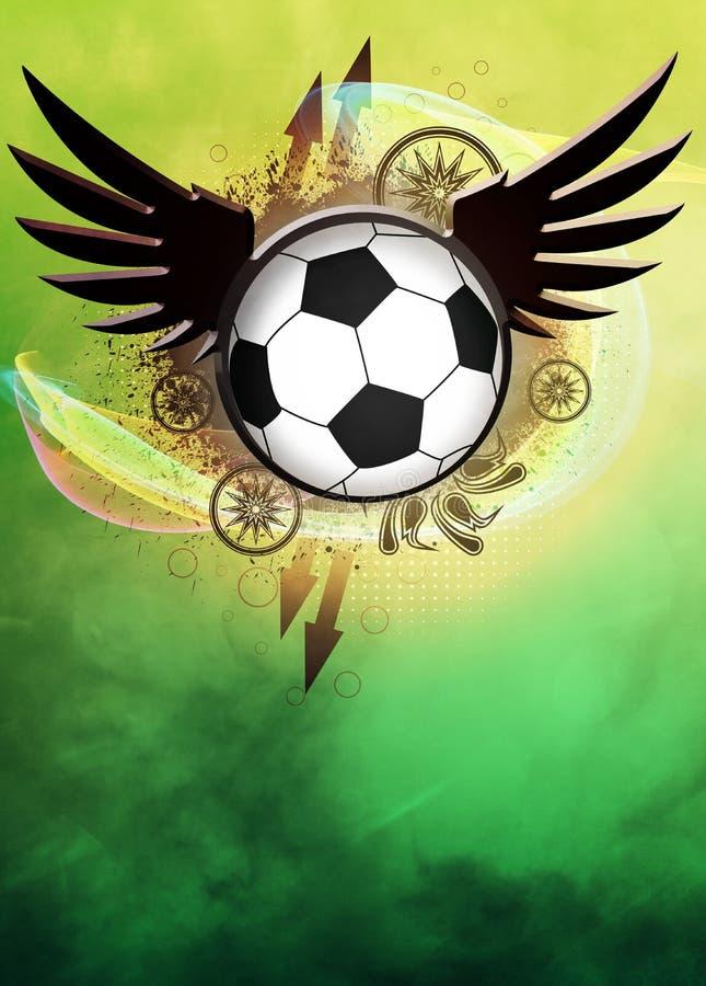 Fundo do futebol ou do futebol ilustração royalty free