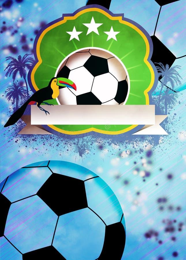 Fundo do futebol ou do futebol ilustração stock
