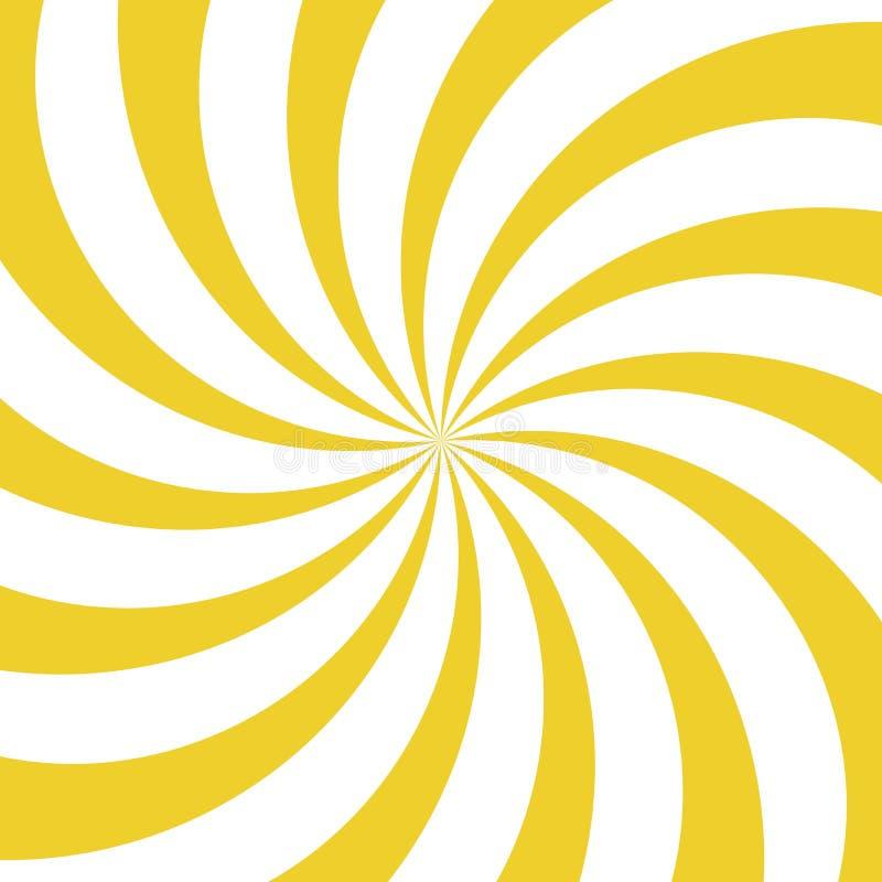 Fundo do giro da luz solar Fundo amarelo e branco da explosão de cor Ilustração do vetor ilustração stock