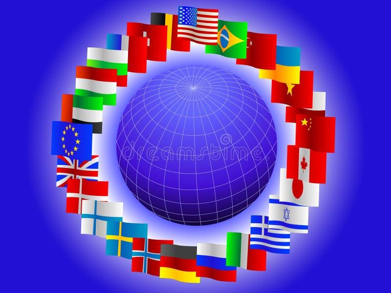 Fundo do globo ilustração do vetor