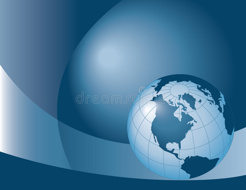 Fundo do globo ilustração stock