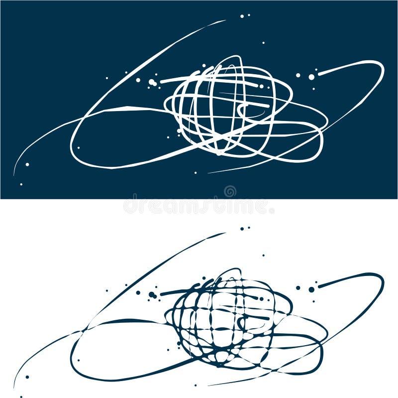 Fundo do globo. Estilo do curso. ilustração stock