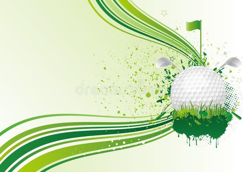 fundo do golfe ilustração do vetor