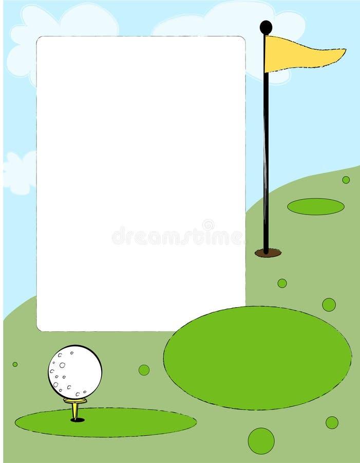 Fundo do golfe ilustração royalty free