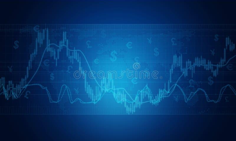 Fundo do gráfico do mercado empresarial foto de stock
