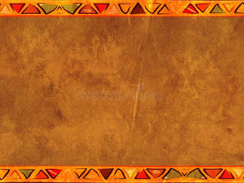 Fundo do Grunge com textura de papel velha ilustração royalty free