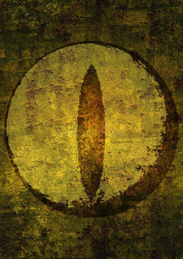 Fundo do Grunge com um olho do dragão nele ilustração do vetor
