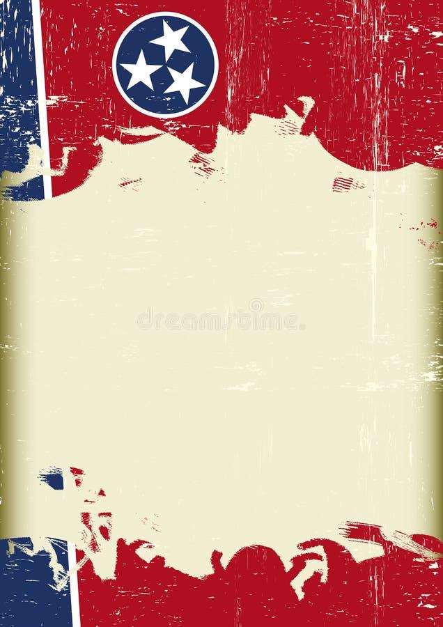 Fundo do grunge da bandeira de Tennesse ilustração royalty free