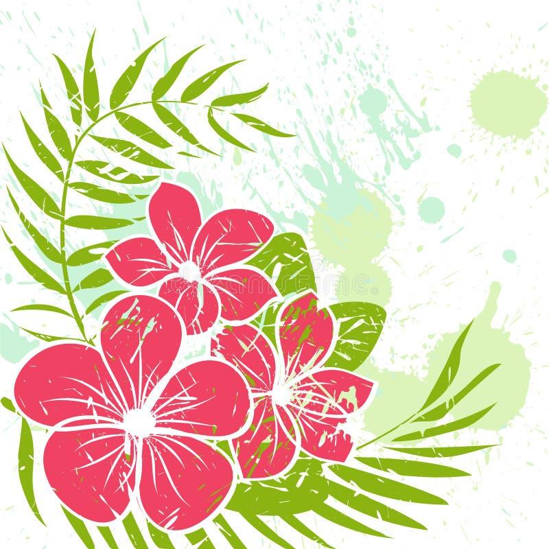 Fundo do grunge da flor ilustração do vetor