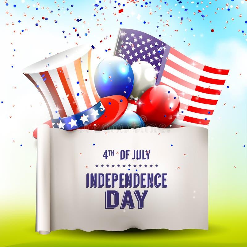 Fundo do grunge da independência Day ilustração do vetor