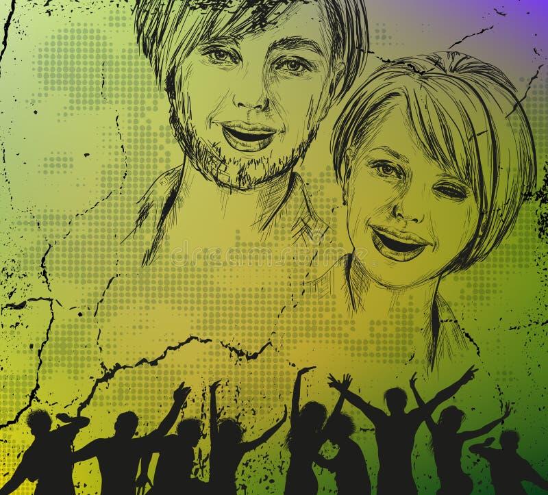 Fundo do grunge da juventude ilustração royalty free