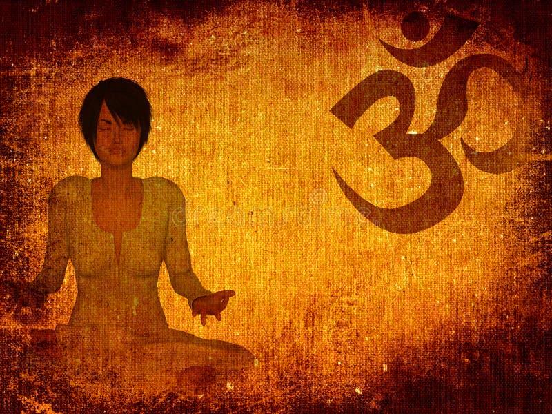 Fundo do grunge da meditação ilustração do vetor