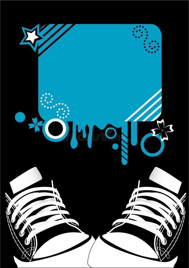 Fundo do grunge de Adidas imagem de stock