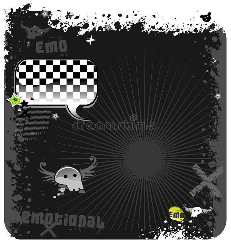 Fundo do grunge de Emo ilustração stock