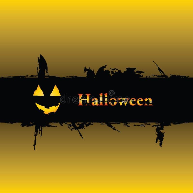 Fundo do grunge de Halloween ilustração royalty free