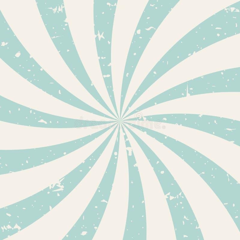 Fundo do grunge de Sunlightspiral azul de pó e fundo retro bege ilustração do vetor