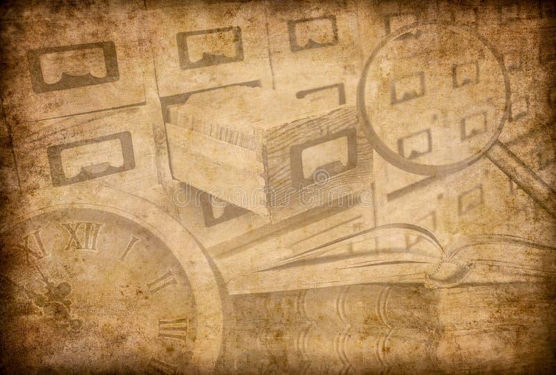 Fundo do grunge do arquivo, do museu ou da biblioteca ilustração stock