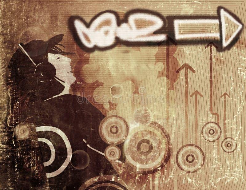 Fundo do grunge dos grafittis ilustração do vetor