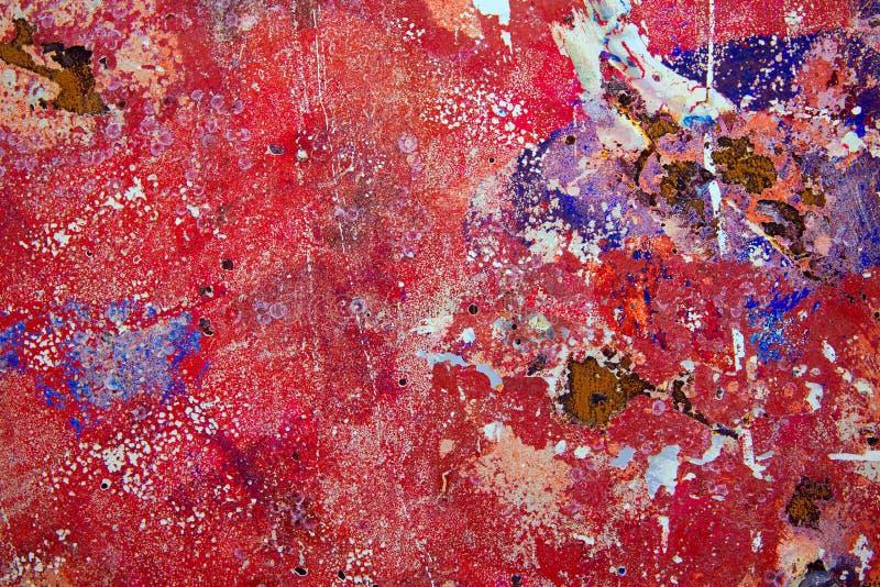 Fundo do Grunge em colorido vermelho e oxidado imagens de stock