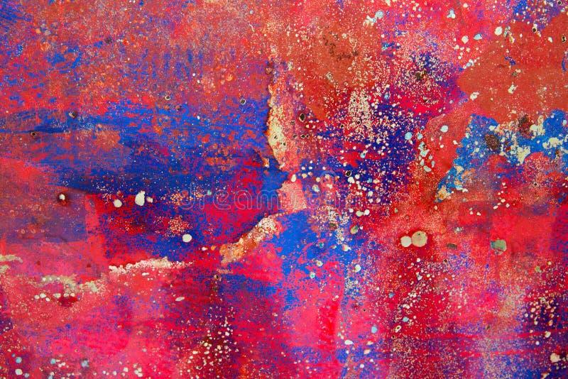Fundo do Grunge em colorido vermelho e oxidado fotos de stock royalty free