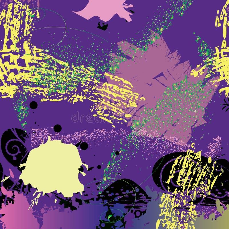 Fundo do Grunge na cor azul ilustração do vetor