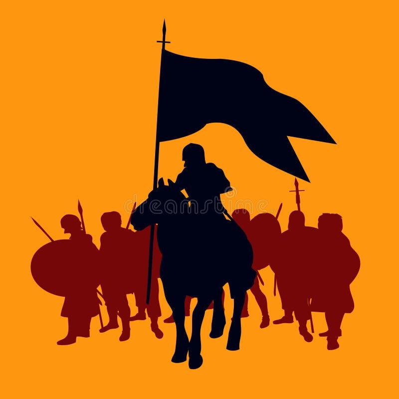 Download Fundo do guerreiro ilustração do vetor. Ilustração de velho - 10058871