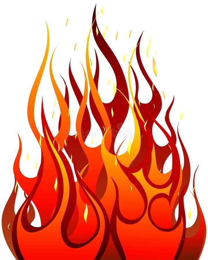 Fundo do incêndio ilustração stock