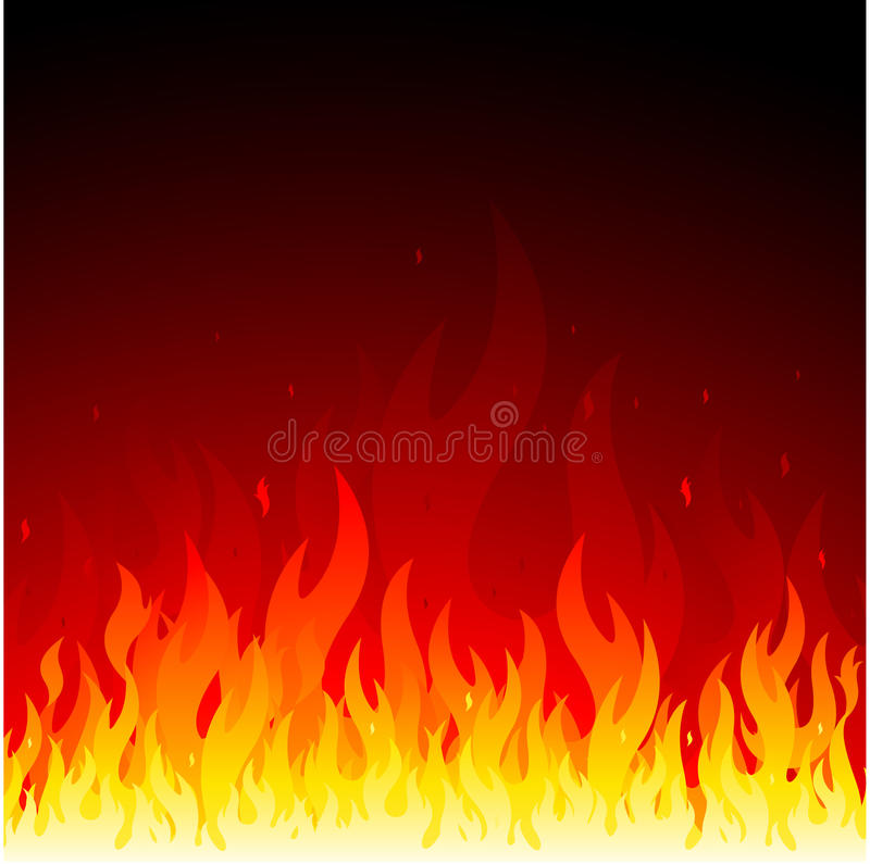 Fundo do incêndio do vetor ilustração royalty free