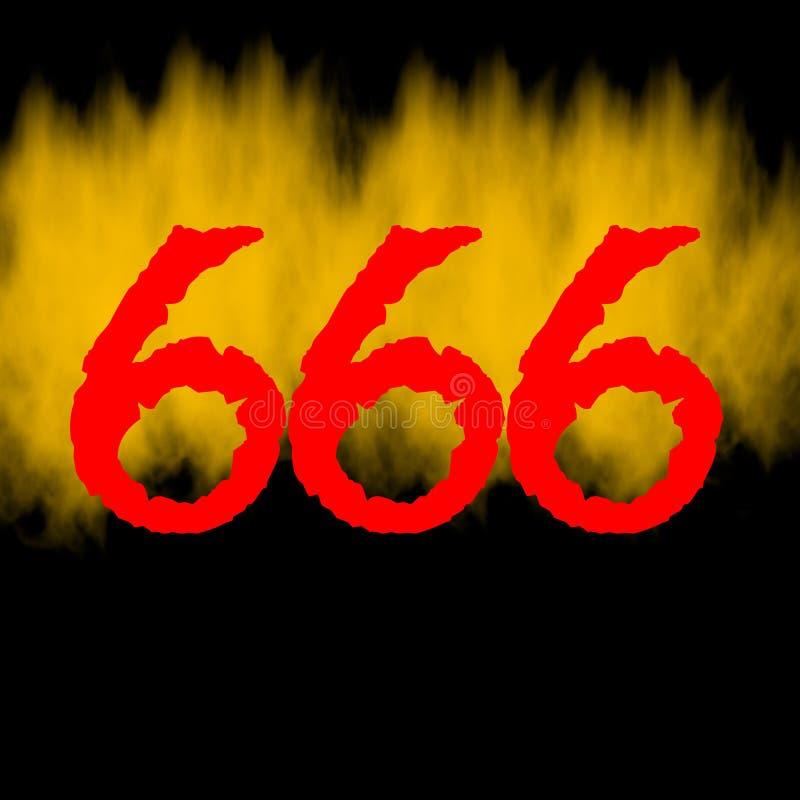 fundo do inferno de 666 chamas ilustração do vetor