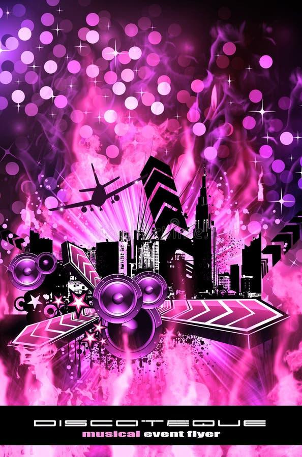 Fundo do insecto do disco do estilo de Grunge ilustração royalty free