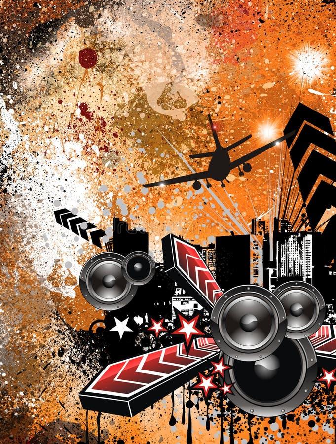 Fundo do insecto do disco do estilo de Grunge ilustração stock