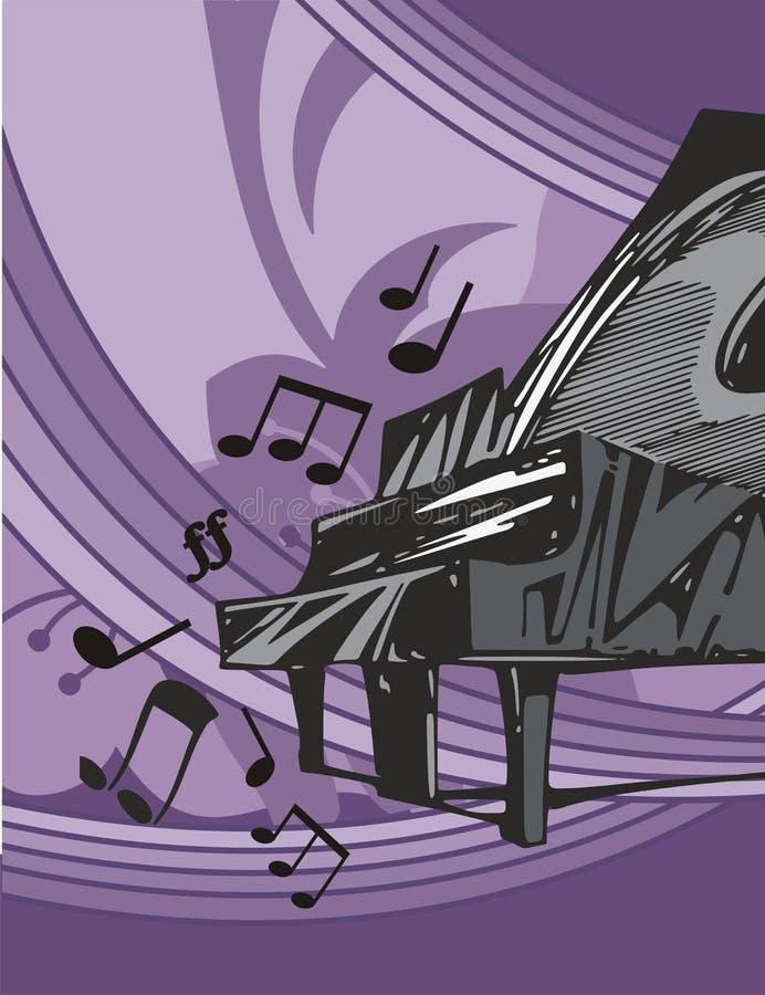 Fundo do instrumento de música ilustração royalty free